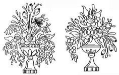 Dessins polychrome - maison de poupée - vitrines miniatures One Stroke Painting, Tole Painting, Diy Painting, Vitrine Miniature, Chip Carving, Embroidery Patterns, Painted Furniture, Folk Art, Pattern Design