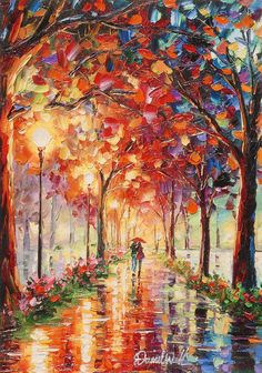 Colorful Intense Impressionism by artist Daniel Wall - Park West Gallery Modern Impressionism, Impressionist Art, Realistic Paintings, Wall Paintings, Palette Art, Samsung Galaxy Wallpaper, Floral Artwork, Beautiful Paintings, Lovers Art
