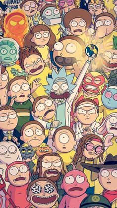 Hd Wallpaper Rick And Morty Cartoon Iphone Rick Morty intended for Rick and Morty Cartoon Wallpaper - Find your Favorite Wallpapers! Cartoon Wallpaper, Wallpaper Gatos, Sf Wallpaper, Wallpaper Spongebob, Screen Wallpaper, Rick And Morty Poster, Rick Y Morty, Nerdy, Graffiti