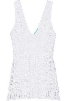Melissa Odabash Alexis crocheted mini dress | THE OUTNET