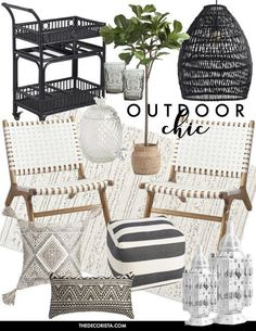 Shopping: My favorite zebra rug finds - Patio Furniture - Ideas of Patio Furniture - I don't really consider myself much of a pattern player. I stick to solid fabrics for the most part. Perhaps its because my taste for the home leans more t Outdoor Rooms, Outdoor Decor, Deck Decorating, Living Spaces, Living Room, Pergola, New Homes, House Design, Patio Design