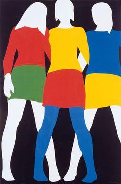 """""""mireille, colette, anne"""" by franz gertsch, 1967"""