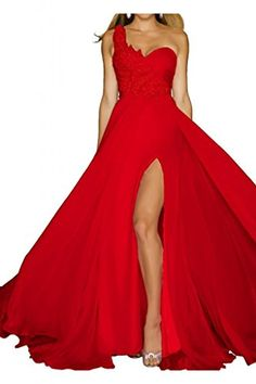 TOSKANA BRAUT Damen Ein-Schulter Schlitz Chiffon Abendkleider Lang Prom Fest Party Ballkleider-36-Rot TOSKANA BRAUT http://www.amazon.de/dp/B00QTHFNQO/ref=cm_sw_r_pi_dp_EXTAvb02BXCF3