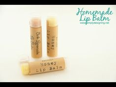 Homemade Lip Balm Recipe & DIY Tutorial #HomeMade #DIY #LipBalm #Labels #MakeLipBalm