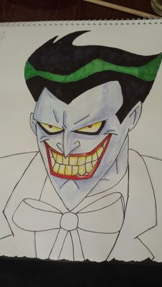 Joker in progress Joker, Batman, Artwork, Fictional Characters, Art Work, Work Of Art, Auguste Rodin Artwork, Jokers, The Joker