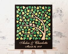 3D Wedding Guest Book Alternative Wedding Tree Wood guest book Rustic Wedding Guestbook Unique Custom Guest book Tree of Hearts Wedding gift  This 3D Wedding Guest Book can be used as a guestbook or as a book of wishes to the bride and groom. This Alternative guestbook is a marvelous wedding token. Your guests sign or write messages on the hearts. You can hang this Wedding Tree Guest Book on a wall. *****DETAILS***** All elements of our guest books made of wood and painted by hand. Each…