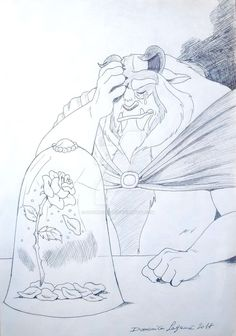 "An artwork about the Beast Prince Of Disney's movie ""Beauty and the Beast""."