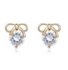 Bow Lover Rhinestone Fashion Earrings   LilyFair Jewelry, $19.99!