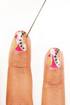 This manicure isn't for novices, but click through for a super-easy version!