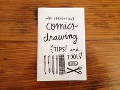 Mini zine: Miss Sequential's Comics Drawing Tips and Tools on Etsy, $1.00