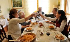 Italian family dining - family and good food, two extremely important things in an Italian family! :)