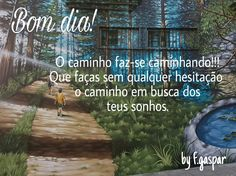 Bom dia! Fotografia feita pelo autor a partir de um trabalho de arte urbana - Sintra - Portugal