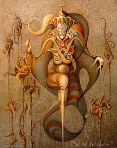 Boris Indrikov - surreal paintings
