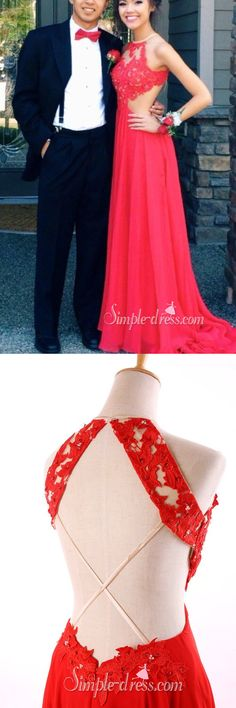 2016 long red prom dress with backless long chiffon evening dress halter prom dress
