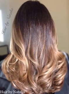 Balayage Ombre hair color for Brunettes. #balayagedenver www.hairbynatalia.com