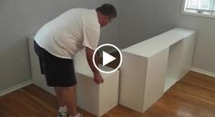 IKEA HACK DIY Platform Bed: How to turn seven standard kitchen cabinets from IKEA into a platform bed with storage underneath. Ikea Bedroom Storage, Bed Storage, Storage Spaces, Cabinet Storage, Extra Storage, Kitchen Storage, Platform Bed With Storage, Diy Platform Bed, Stolmen Ikea