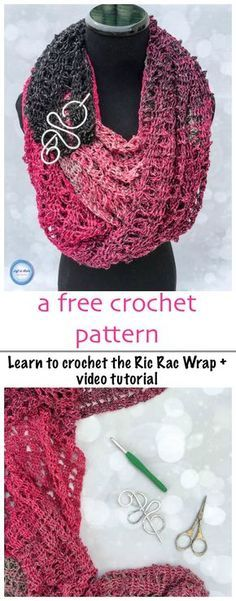 This free beginner-friendly crochet pattern will teach you how to make the Ric Rac Wrap. This is an oversized scarf or shawl that is lightweight and perfect for cooler fall temperatures. A video tutorial is included to get you started!