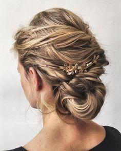 wedding hairstyle,wedding hair ideas,bridal hair,bridal hair do,updo,updo hairstyles,loose braided updo,wedding hair inspiration,Braided bun wedding hair inspiration