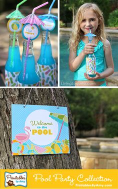 Pool Party Ideas! Fun Food & Party Printables by Amy Locurto. Living Locurto.