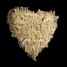 Frank Tjepkema, 'Loveheart', Goldplated metal