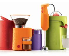 small-kitchen-appliances-orange-green-red-purple
