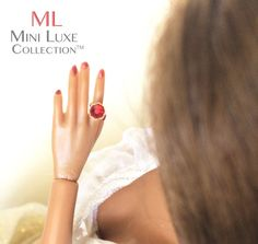 Fashion Royalty Doll Ring | Fashion Doll Jewelry | Poppy Parker | Dynamite Girls | Ring for Doll | Red Swarovski Crystal Ring by MiniLuxeCollection on Etsy
