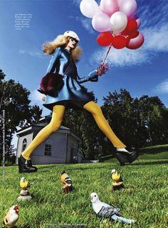 """Moda Bez Hranic"": Karo M Goes Slightly Alice in Wonderland by Brano Simoncik for Harper's Bazaar Czech"