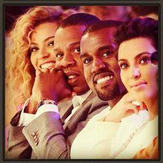 Beyonce Jay-Z Kanye West Kim Kardashian (dont judge me lol)