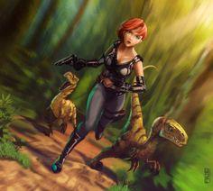 Dino Crisis by DanteFitts on DeviantArt Video Game Characters, Female Characters, Fictional Characters, Dinosaur Hunter, Dino Crisis, Arte Nerd, Female Cartoon, Shadowrun, Jojo Bizzare Adventure