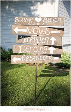 Wedding Photo Ideas » Elizabeth Large Photography in Bristol, TN Wedding Signs DIY
