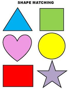 A printable shape macthing activity for Toddlers and Preschoolers. Learning Numbers Preschool, Kindergarten Classroom Decor, Preschool Learning Activities, Preschool Printables, Preschool Art, Preschool Activities, Shapes For Toddlers, Printable Shapes, Teaching Shapes
