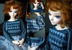 BJD clothes, FairyLand miniFee Shushu Isabelle BJD sweater tutorial with pattern making instructions