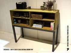 vintage industrial furniture - Yahoo Image Search Results