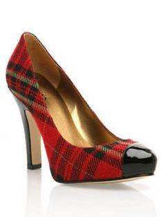 Plaid shoes...love them for your fall/winter plaid wedding. #Weddings #WeddingAttire