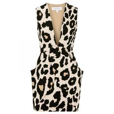 Finders Keepers Leopard Print Neoprene Mini Dress in Pink (leopard)
