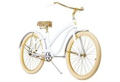What's not to love about a leopard seat bicycle!