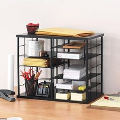 "Rubbermaid 12-Slot Organizer, 21W x 11 3/4""""D x 16""""H, Black (1738583) Rubbermaid http://www.amazon.com/dp/B00125O3ZA/ref=cm_sw_r_pi_dp_E-kXub0K9GRNS"