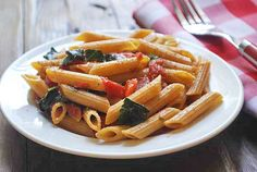 Penne with Tomato Basil Sauce | Healthy Recipes