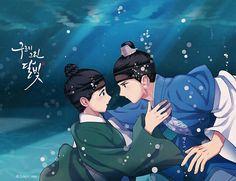 Love this art  Credit to owner  #moonlightdrawnbycloud #loveinthemoonligt #구르미그린달빛 #만화 #novel