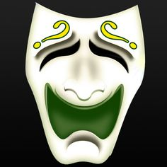 Riddlerized Comedy Mask from the cover of Comedy of Errors Batman Humor, Highland Games, Riddler, Comedy, The Riddler, Comedy Theater, Comedy Movies