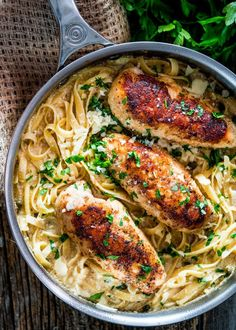 Creamy Lemon Chicken Piccata Fettuccine - this is for the lemon lovers out there. Crispy chicken with fettuccine in a creamy lemony sauce with capers and garlic.