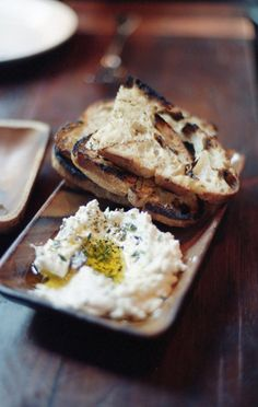 toasted rustic bread, olive oil,cheese