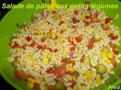 Une salade complète, fraîche et colorée à décliner tout au long de l'été!  http://kazcook.com/blog/archives/1096-Salade-de-pates-aux-petits-legumes.html  Fred