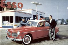 Esso Gas station - Volvo Amazon