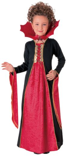 Kids Gothic Vampiress Costume Kids Vampire Costumes - Mr. Costumes