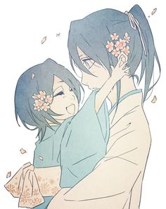 Rukia and Byakuya...aaawwww...sorry, I've been having some serious Kuchiki sibling feels today, and this was to adorable not to pin.