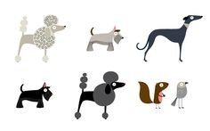 Fun and elegant. Love these dog designs by box of birds for Victoria Bark.