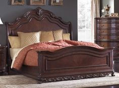 Looking for Homelegance Deryn Park Sleigh Bed In Cherry - Queen ? Check out our picks for the Homelegance Deryn Park Sleigh Bed In Cherry - Queen from the popular stores - all in one. Wood Sleigh Bed, Sleigh Beds, Bedroom Furniture For Sale, Bed Furniture, Furniture Styles, Furniture Design, Sleigh Bedroom Set, Bedroom Sets, Camas King