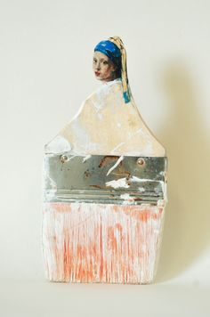 Old Paintbrush Handles Sculpted Into Heads of Women by Rebecca Szeto