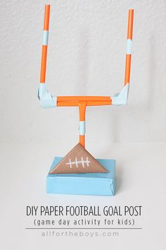 Gameday Activity to Keep Kids Busy - DIY paper football